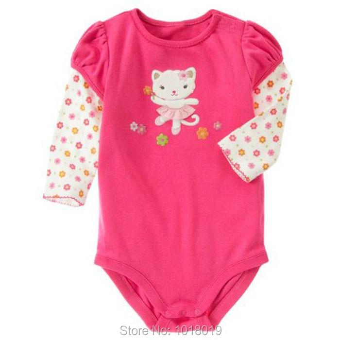 a9029472e Nuevo 2017 de alta calidad de algodón bebe marca bebé recién nacido Ropa  ropa mono creepers Monos bebé Niñas Monos