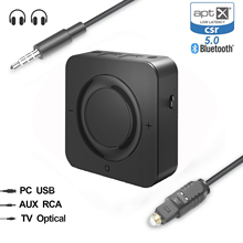 3.5mm Aux Bluetooth Transmitter Receiver luetooth 5.0 aptX HD aptX LL Low Latency Audio Receiver for TV/Home/Car Stereo System august mr230 aptx low latency wireless bluetooth 4 2 audio receiver 3 5mm aux bluetooth audio receiver adapter for car speakers