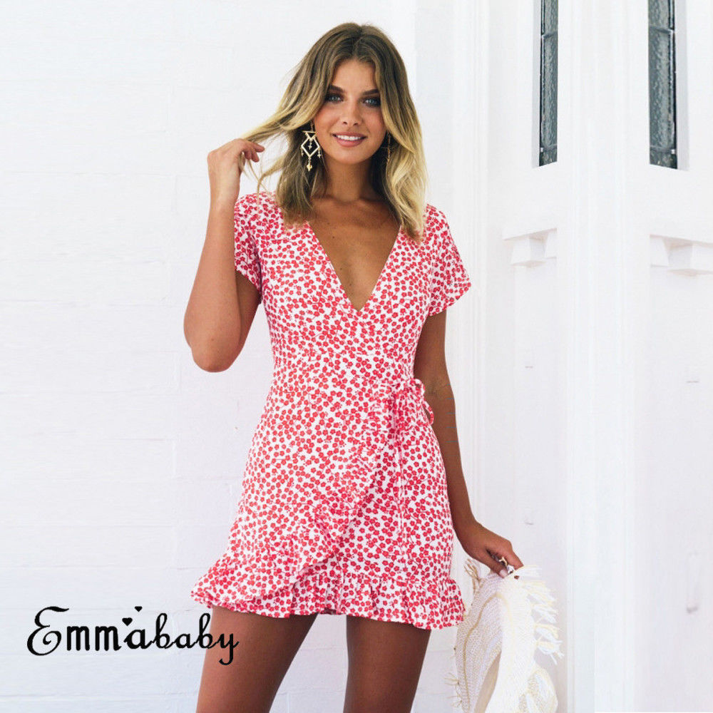US $5 84 23% OFF|Stars Print Tank Dress Women Sexy White Wrap Bodycon  Casual Rustic Summer Style Boho Resort High Waist Red Polka Dots Dresses-in