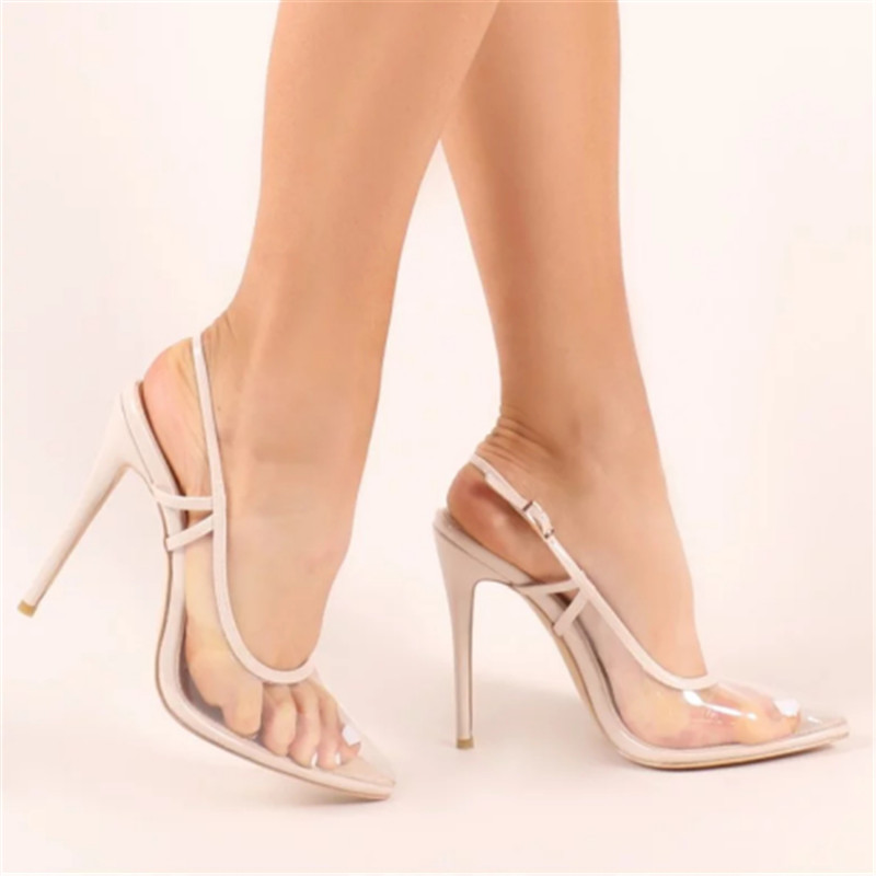 ARQA   Pointed Toe Sexy Fashion Hasp Stilettos High Heels Womens Sandals Rome Style Purity Transparent Womens PumpsARQA   Pointed Toe Sexy Fashion Hasp Stilettos High Heels Womens Sandals Rome Style Purity Transparent Womens Pumps