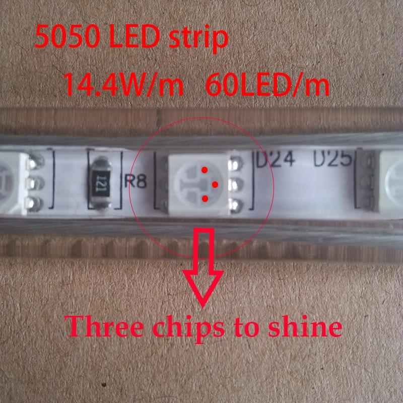 Levou Crescer Luzes m azul cresce a luz Leds : 60 Led 5050 Smd