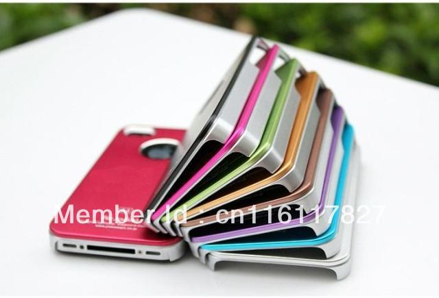 Air Jacket  hard back cover shell for iPhone 4 4S 4G cell phone mobile case metal aluminium factory seller 30pcs