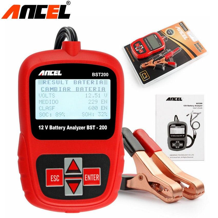 Prix pour 5 pcs/lot Ancel BST-200 Batterie Testeur Anglais/Français/Spansih/Russe 12 V Batterie De Voiture Testeur Analyseur BST 200