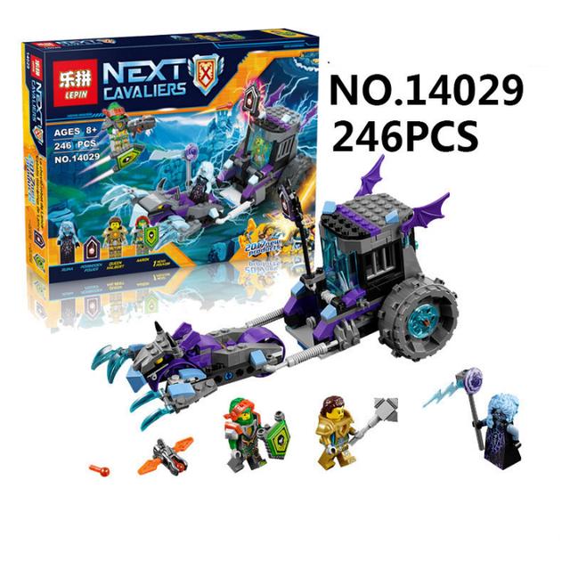 Lepin 14029 nexus knights building blocks set cerradura de ruina y rodillo figuras niños juguetes de los ladrillos de regalo para niños compatibles 70349