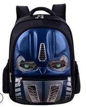 Pupilsschoolbags Grade 1-3-6 Hard-shell car childrens waterproof 3D flashlight shoulder bag