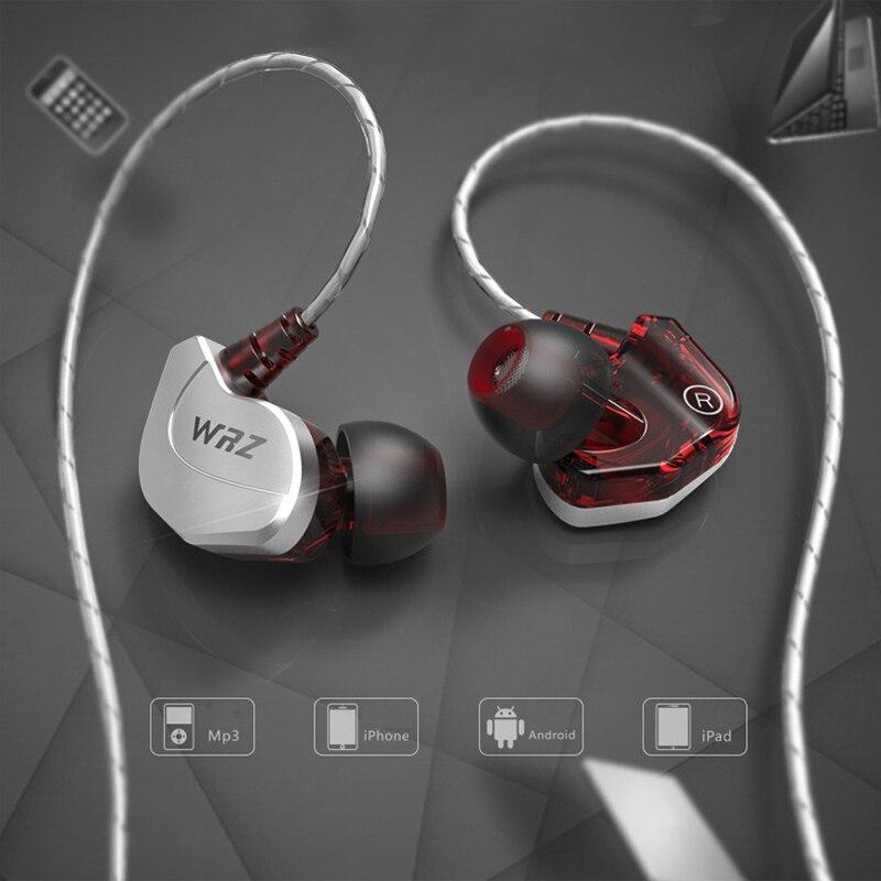 WRZ Upgraded X6 Subwoofer In Ear Earphone Sports HIFI Bass DJ Earphones Headset with Mic for iPhone 5 6 6splus xiaomi Huawei