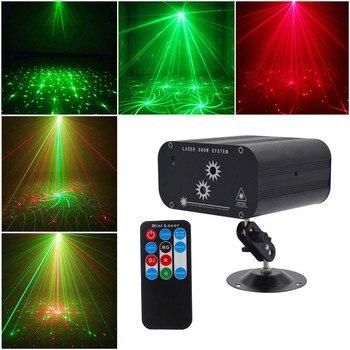 48 דפוסים ירוק & אדום לייזר מקרן אור בית חג המולד DJ KTV דיסקו מסיבת אור מלא שמיים כוכב מקלחת LED שלב תאורה