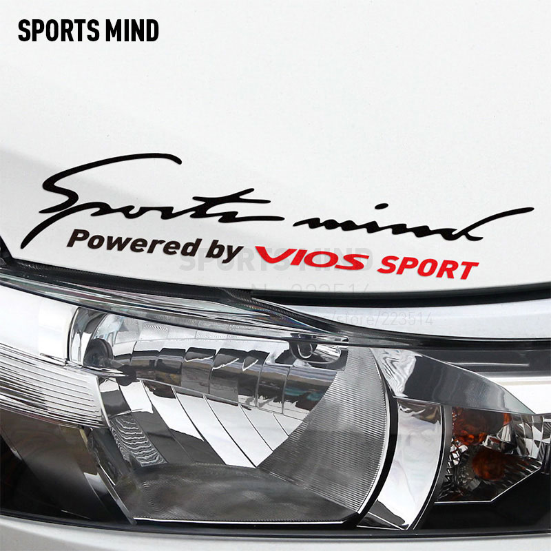 2 Pieces Sports Mind Car Covers Automobiles Car Sticker Decal Car-Styling For TOYOTA VIOS 2017 car accessories