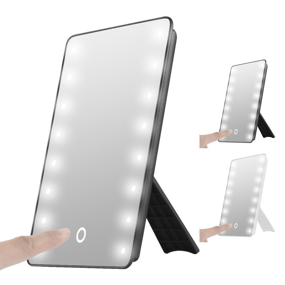 LED Touch Sensor Vanity Mirror Makeup Mirror Cosmetic Mirror Exquisite Illuminated Bathroom Beauty Home mirror touch synaesthesia