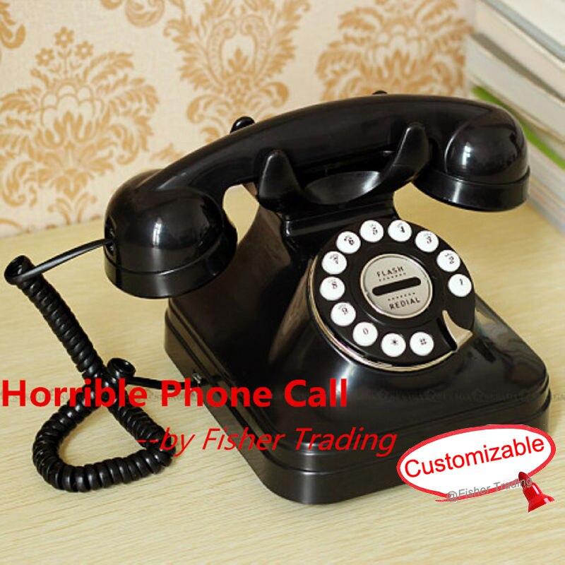 Horrible évasion salle appel téléphonique de la vraie vie room escape jeu prop, téléphone jeu prop de LE takagisme jeu, mystérieux jeu téléphone