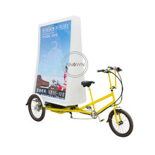 CE authorised electrical pedal commercial bike bicycle led promoting tricycle