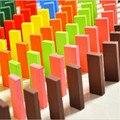 120 Pçs/set 2016 blocos de dominó de madeira do bebê na primeira infância brinquedos educativos de Alta Qualidade colorido