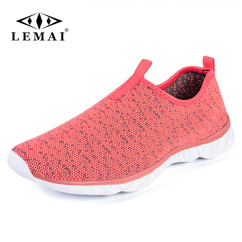 LEMAI Quick Dry Women Sneakers Summer Breathabel Gym Sport Female Running Shoes Outdoor Soft Sole Super Light Trainers F037w