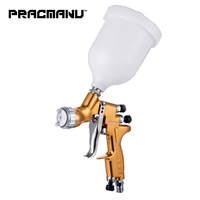PRACMANU HVLP spray gun GTI/TTS professional sprayer golden paint gun automotive guns car painting tools pistol paint spary gun