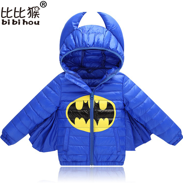 2018 Kids Winter Down Jacket Batman for Boys Girls Character Halloween Christmas snowsuit Casual Hooded Coat Children Outerwear