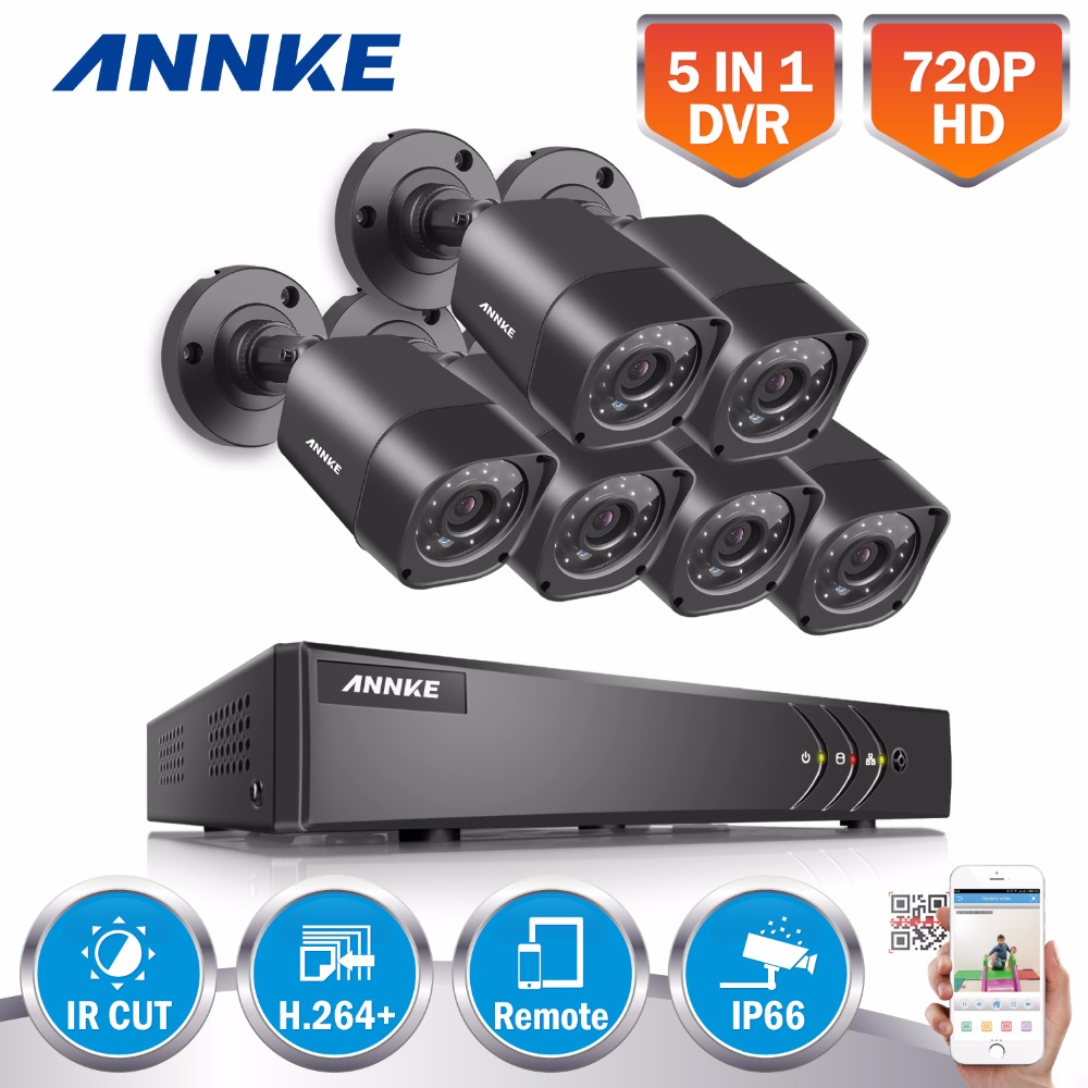 ANNKE 8CH 720P Security System 1080p Lite Digital Video Recorder and (6) 1280TVL Outdoor Fixed Weatherproof Cameras HDMI Output narinder kumar sharma h p singh and j s samra poplar and wheat agroforestry system