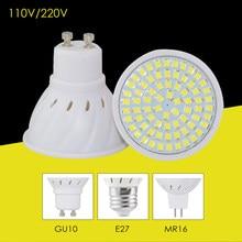 220 v 110 v conduziu a lâmpada gu10 e27 mr16 base de luz potência 8 w 6 w 4 alto brilhante holofotes focos bombillas led para um + + iluminação doméstica