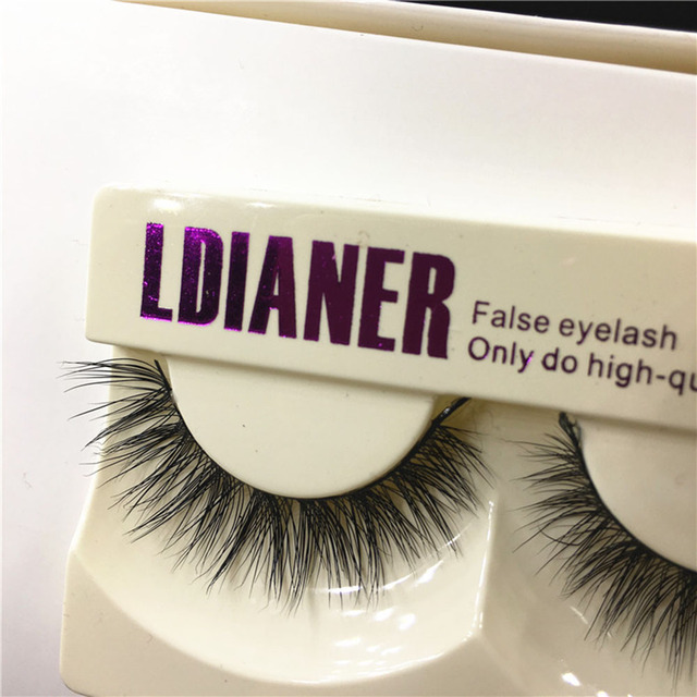 1Pair Real Mink Natural Long Black False Eyelashes Cross Fake Eye Lashes Makeup Beauty Extension Tools