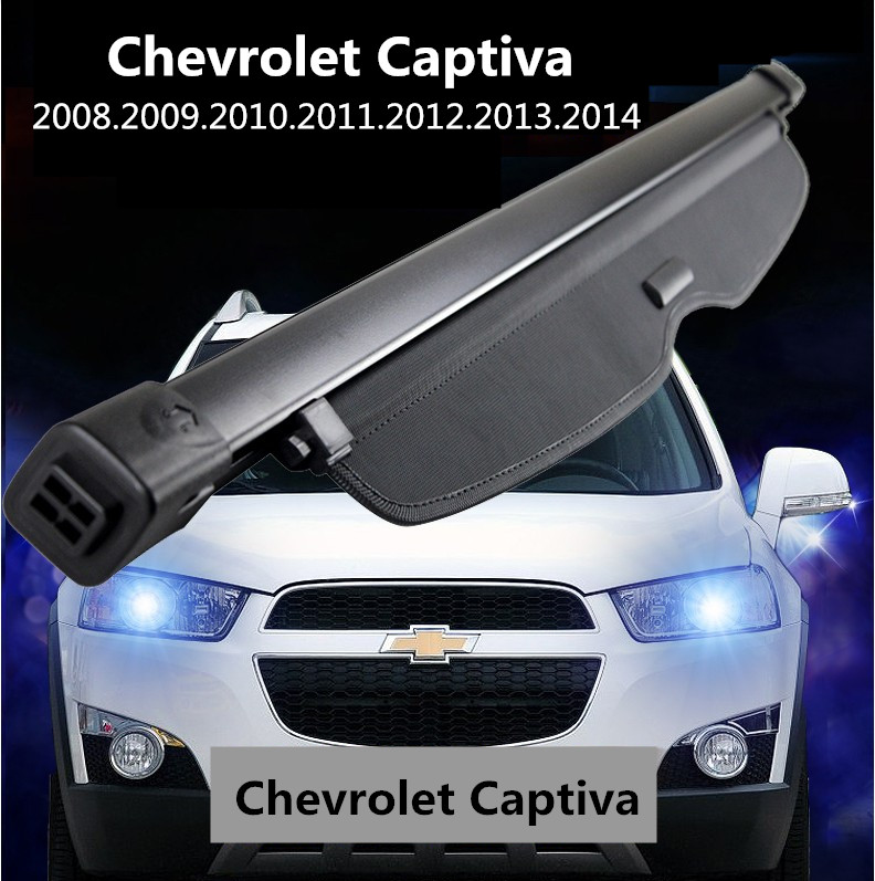 Car Rear Trunk Security Shield Cargo Cover For Chevrolet Captiva 2008.09.2010.2011.2012.2013.2014 Trunk Shade Security Cover car rear trunk security shield cargo cover for volkswagen vw tiguan 2016 2017 2018 high qualit black beige auto accessories