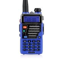 Baofeng Pofung UV-5R Plus Walkie Talkie Dual Band Two Way Ham Radio 5W 128CH UHF VHF FM VOX handheld Dual-Display Qualette Blue