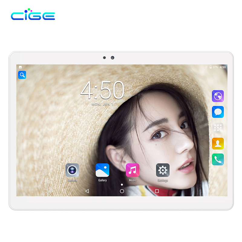 CIGE X20 Octa Core 10 inch Android 7.0 Tablet PC 4GB RAM 32GB/64GB ROM WiFi Dual Cameras OTG Dual SIM Card GPS Tablets PC 10 1 inch tablet pc octa core android 7 0 2gb 32gb 1280 800 dual cameras wifi bluetooth black color function tablets gps otg dhl