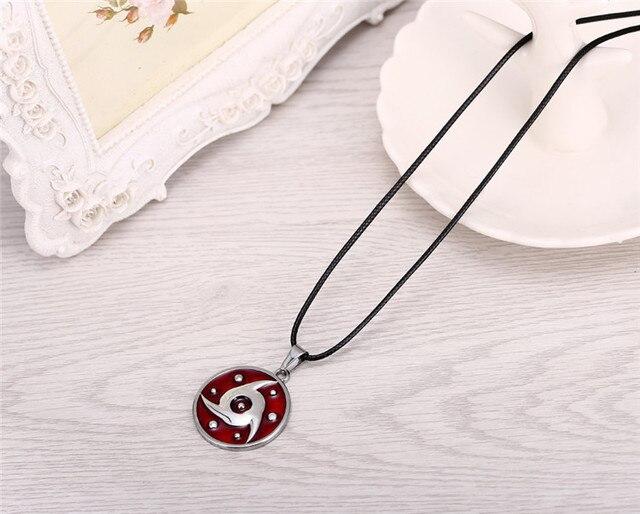 Anime Naruto Uchiha Itachi Mangekyou Sharingan Pendant Necklace  Cosplay Jewelry Gifts