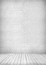 Huayi tecido arte branco pano de fundo da parede de concreto recém personalizado para os estúdios da gota d-1492