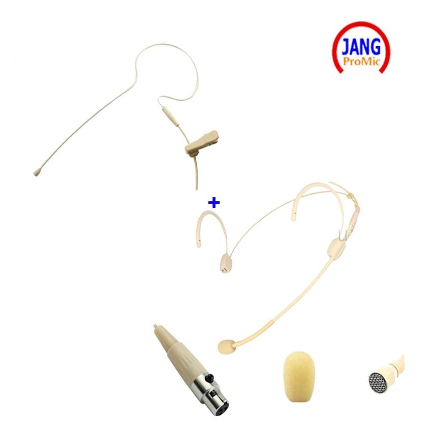 Profesionale 2 pics Microfoane Headset Earclip Microfon Condensator - Audio și video portabile