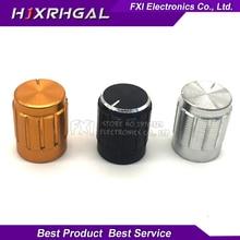 10pcs aluminum alloy 13*17mm potentiometer 13*17 knob rotation switch volume control knob black silvery