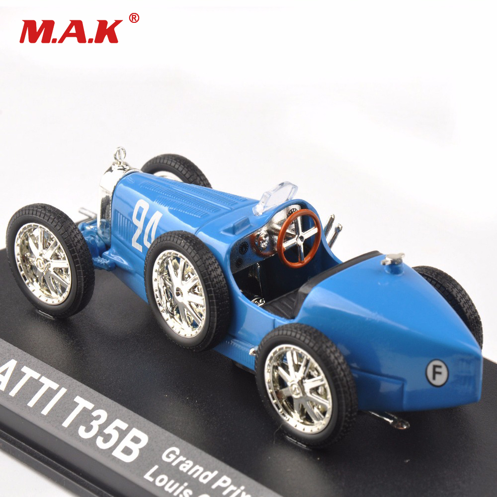1:43 Scale Classic Car BUGATTI T35B Grand Prix Sport 1928 Louis Chiron 24# Vehicles Car Toys Cheap Gift For Children Kids