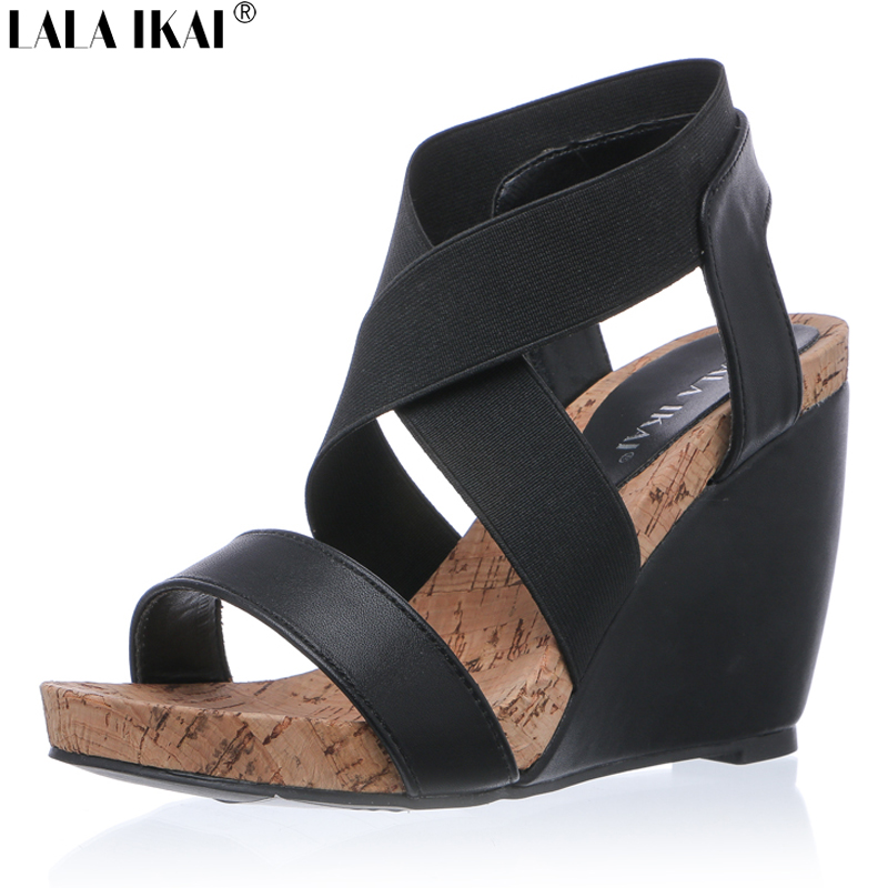 lala ikai summer women wedge sandals cool comfortable bohemian fashion ladies high heels. Black Bedroom Furniture Sets. Home Design Ideas