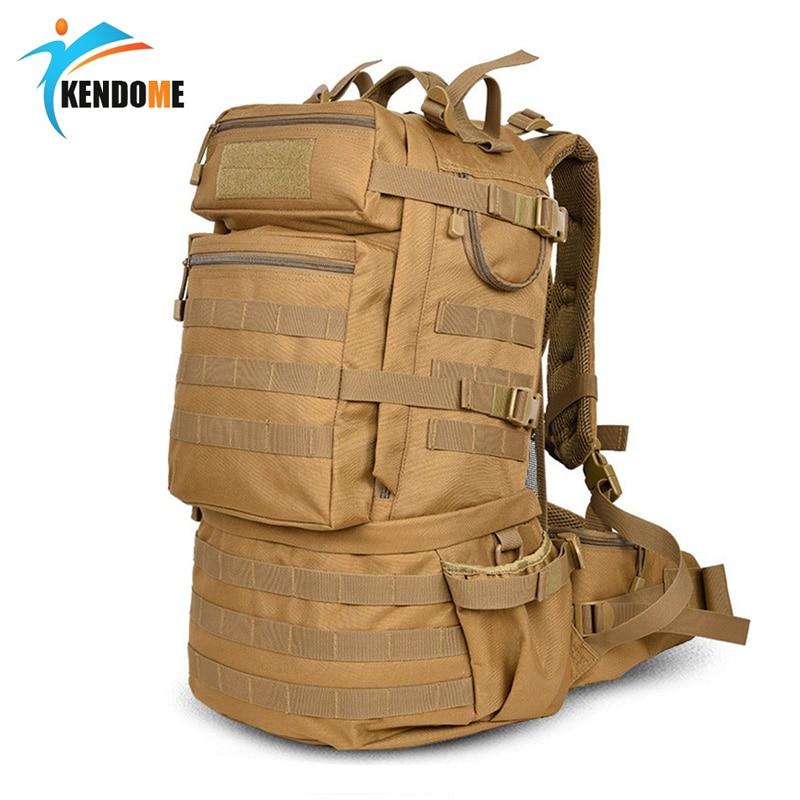 Hot 50L Molle haute capacité étanche Mochila Militar tactique sac à dos assaut militaire sacs à dos Camping sac de chasse