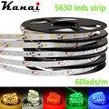 DC12V 5630 SMD 5M/lot  RGB LED Strip Light No-Waterproof Led Tape flexible Strip Light 60Leds/m Tira Home Decor Lamp Car Lamp