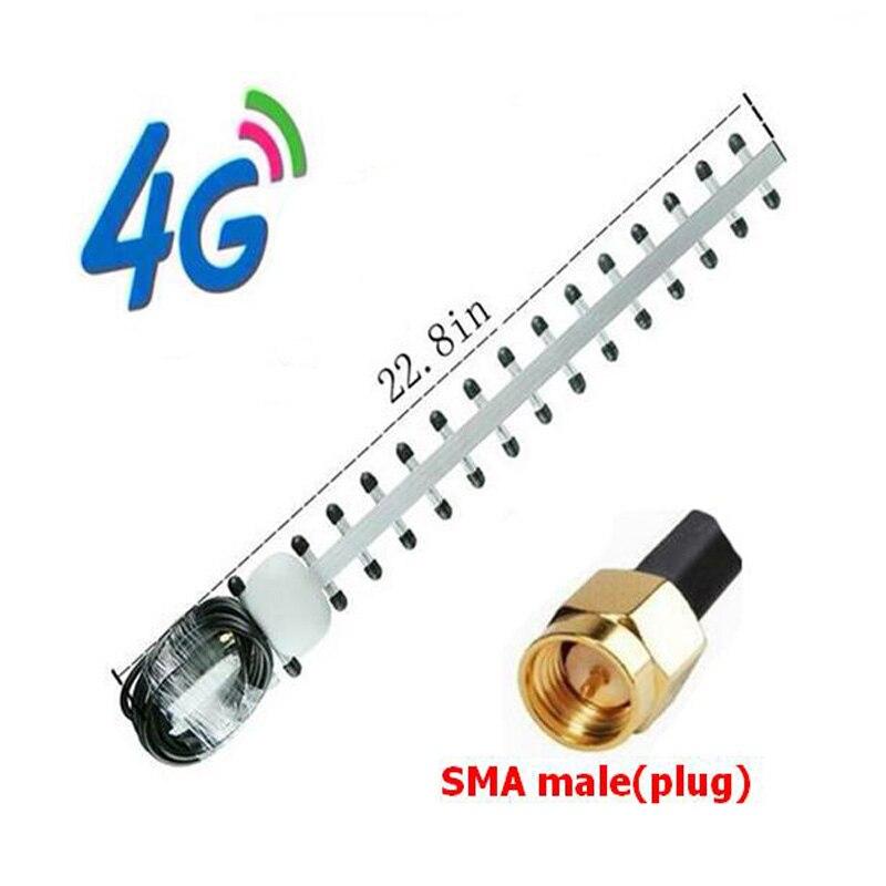 bilder für Neue High Gain 28dBi SMA Stecker 4G 696-960 MHz/1710-2690 MHz Yagi Antenne Dropshipping