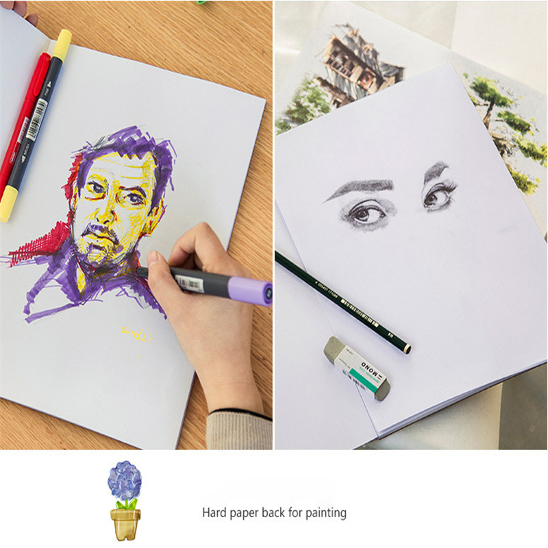 Professional Sketch Book Marker Pad Supplies A3/A4 Marker Book Student Coloring Design Notebook Set Cartoon Draw book School