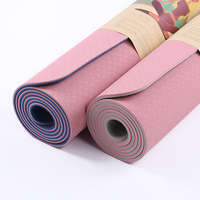 183*68cm 6mm Thick Double Color Non slip TPE Yoga Mat Quality Exercise Sport Mat for Fitness Gym Home Tasteless Pad