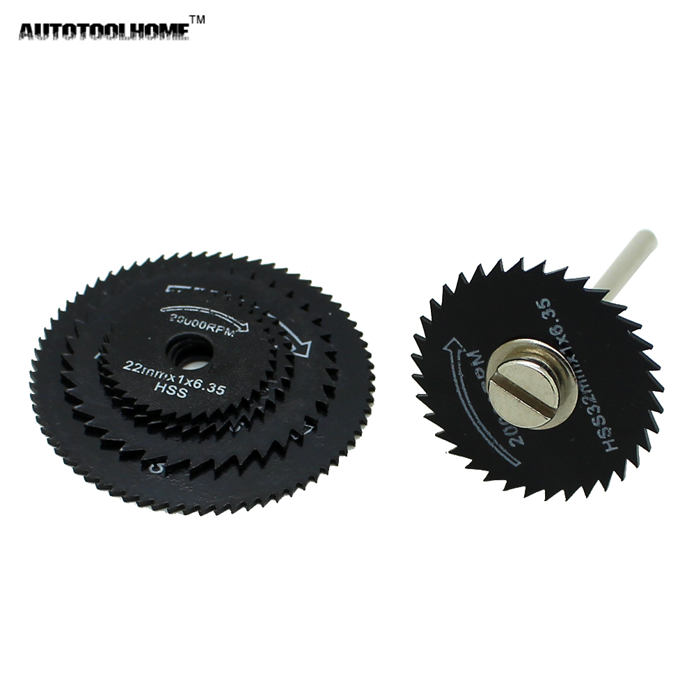 Autotoolhome 6pc black hss circular saw blades set fit wood aluminum using the selected blade when your electric grinder smaller you need to select the smaller blades the more stable the smaller blade blade prone to greentooth Choice Image