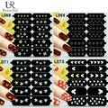1 folha única reutilizável padrão vinis imagem do selo oco Nail Art Template Stickers Stencil Manicure dicas guia L061-074