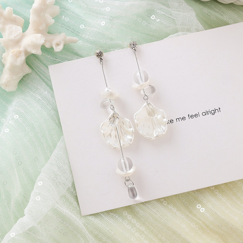 MENGJIQIAO New Korea Japan Elegant Shell Starfish Drop Earrings For Women Sweety Simulated Pearl Pendientes Girl Party Jewelry 11