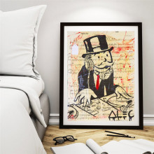 DJ Alec Monopolyingly Man Wall Art Canvas Posters Prints Painting Pictures For Office Modern Home Decor Accessories HD