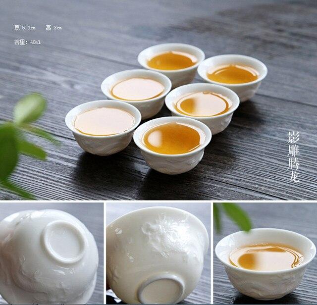 Accessori per la cucina kung fu tea set di combinazione di ceramica ...