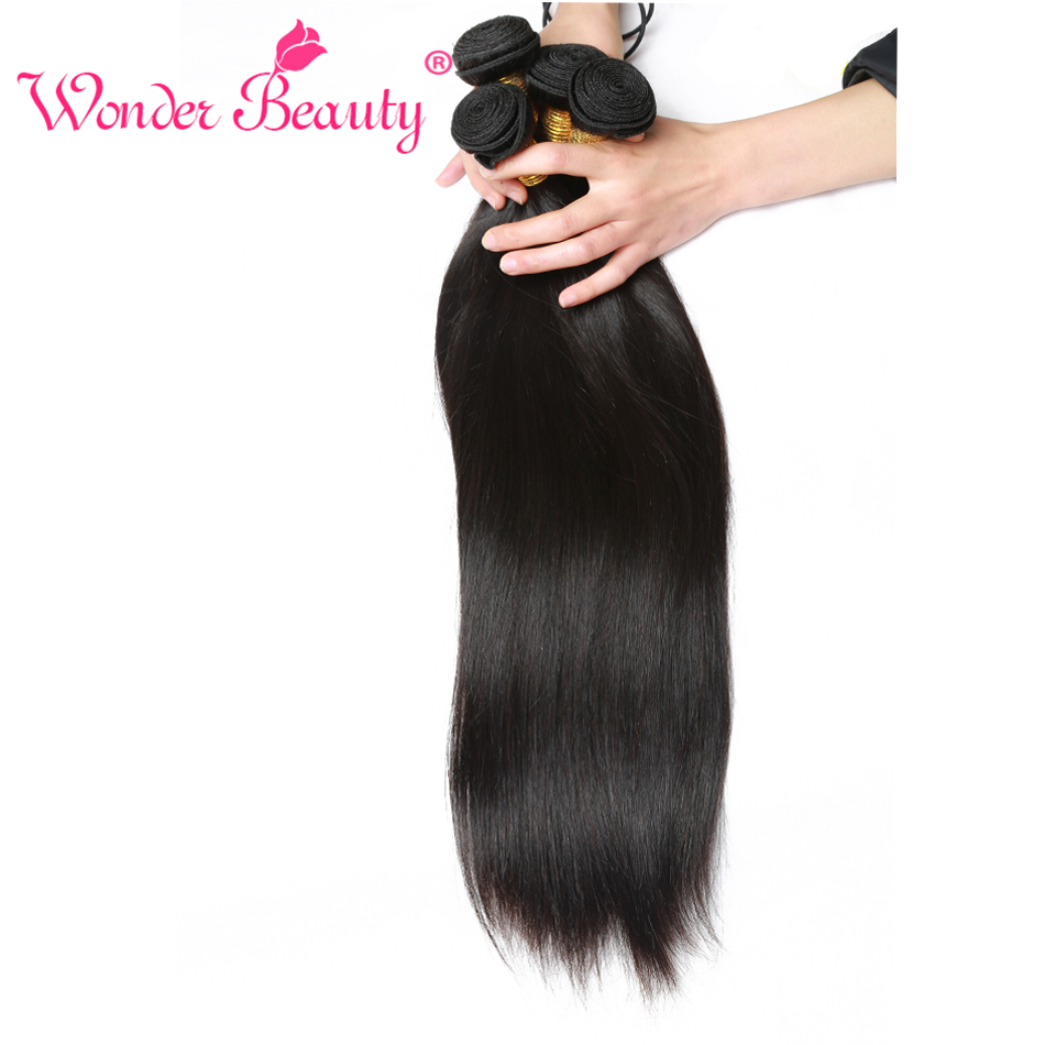 Wonder Beauty Peruvian Straight font b Hair b font Non Remy 1 Bundle 100 font b
