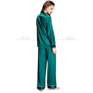 Image 5 - Womens ipek saten pijama pijama Set pijama Loungewear U. s. s6, M8, M10, L12, L14, L16, L18, L20 S ~ 3XL artı boyutu