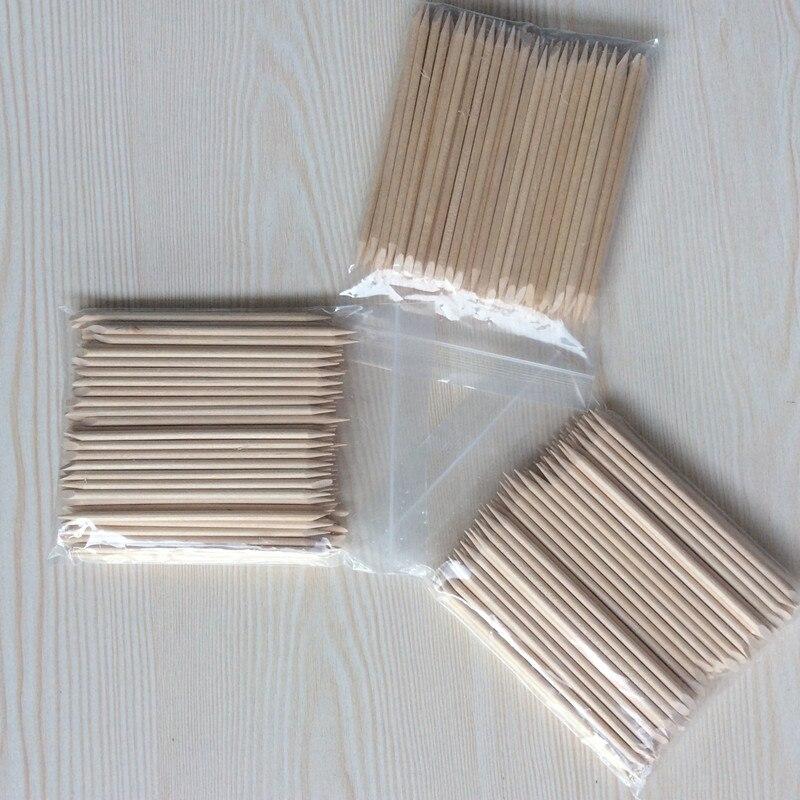 Nützliche Orange Holz Sticks 50 teile / los Nagelhautschieber - Nagel Kunst - Foto 2