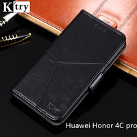 Huawei Honor 4c Pro Case Cover Luxury Leather Soft Back Silicon Book Funda Protect Phone Case