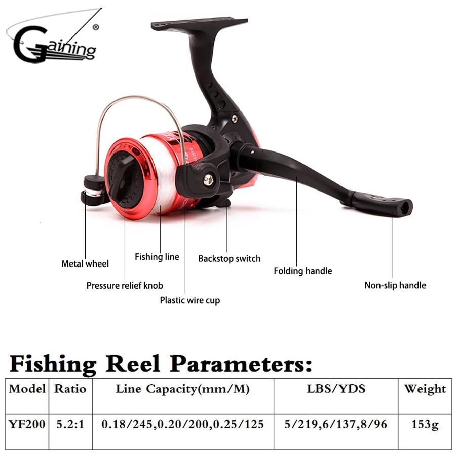 small resolution of  gaining telescopic fishing rod reel combo full kit reel