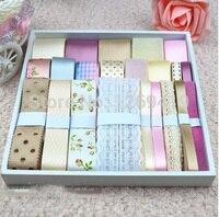 Free Shipping 22 Yards 22style Pink Bowknot Hairpin Headdress DIY Manual Materials Grosgrain Ribbon Whorl Ribbon