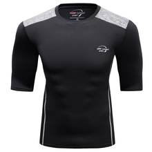 2017 Fashion Summer Men T-shirt Compression Skin Tight Shirts  Under Short Sleeve Exercise Male Workout Bodybuilding Jerseys