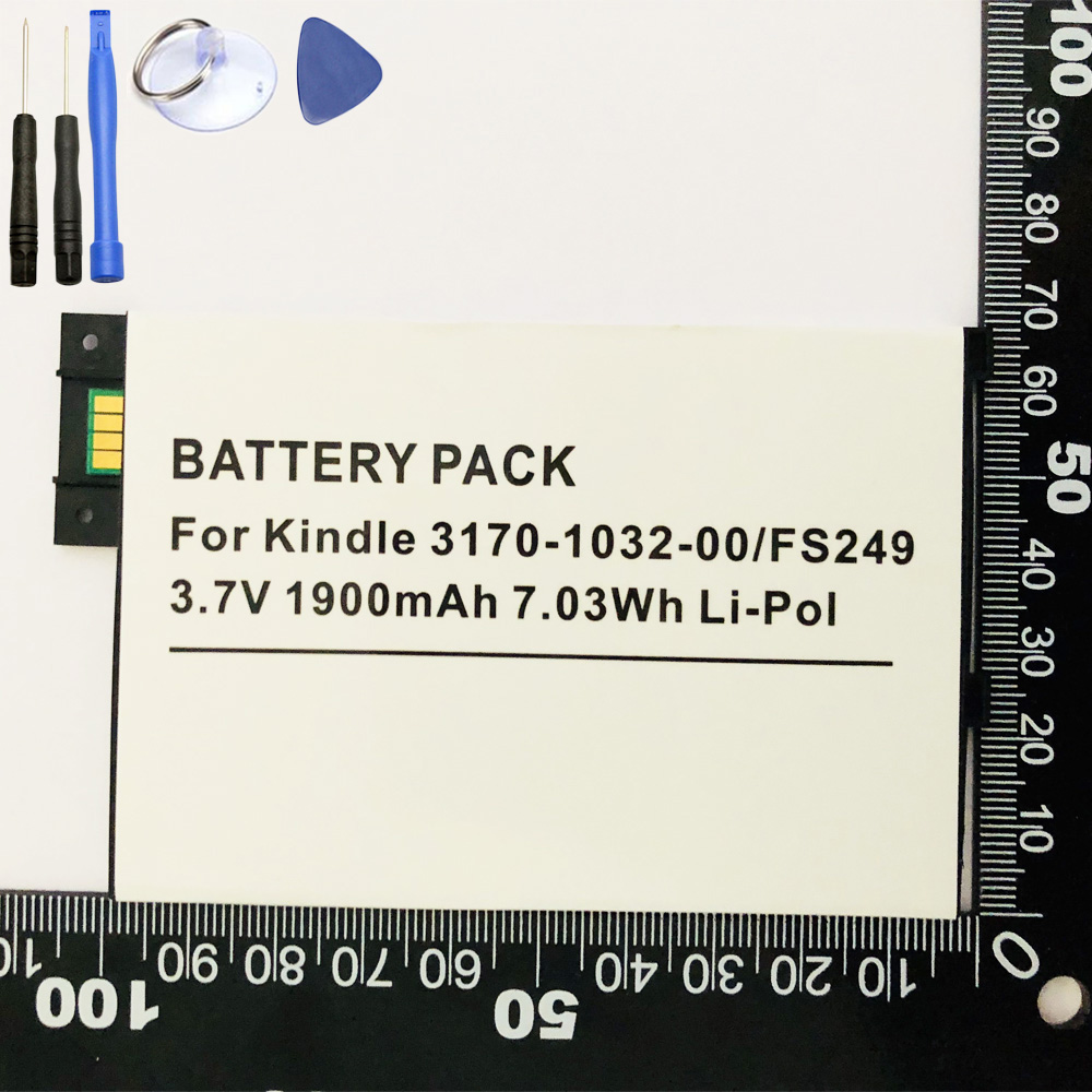US $9 49 7% OFF|ISUN Battery Replacement For Amazon Kindle 3 III Keyboard  eReader D00901 Graphite 170 1032 00 1830mAh with tools-in Mobile Phone