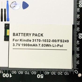 Reemplazo de batería ISUN para Amazon Kindle 3 III teclado eReader D00901 grafito 170-1032-00 1830 mAh con herramientas